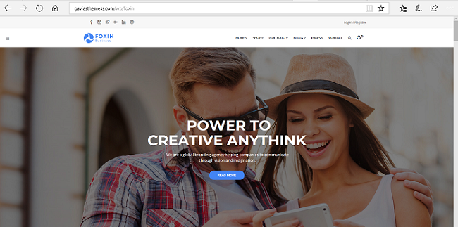Foxin Premium WordPress Template