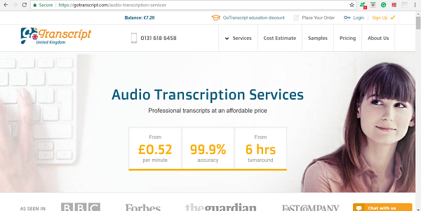 Go Transcript Transcription Company
