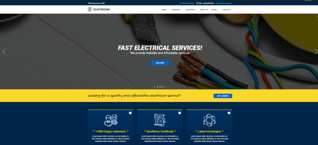 Electrician - Repairing WordPress Theme