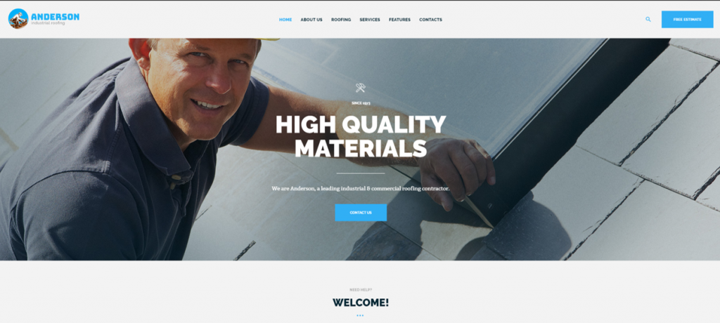 Industrial Roofing Services WordPress Theme