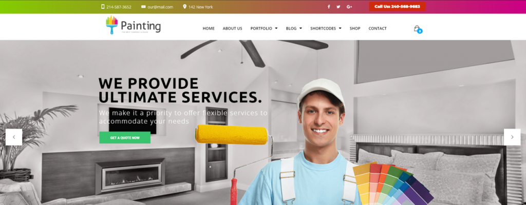 Painting Ceiling Decorating Handyman WordPress Themes