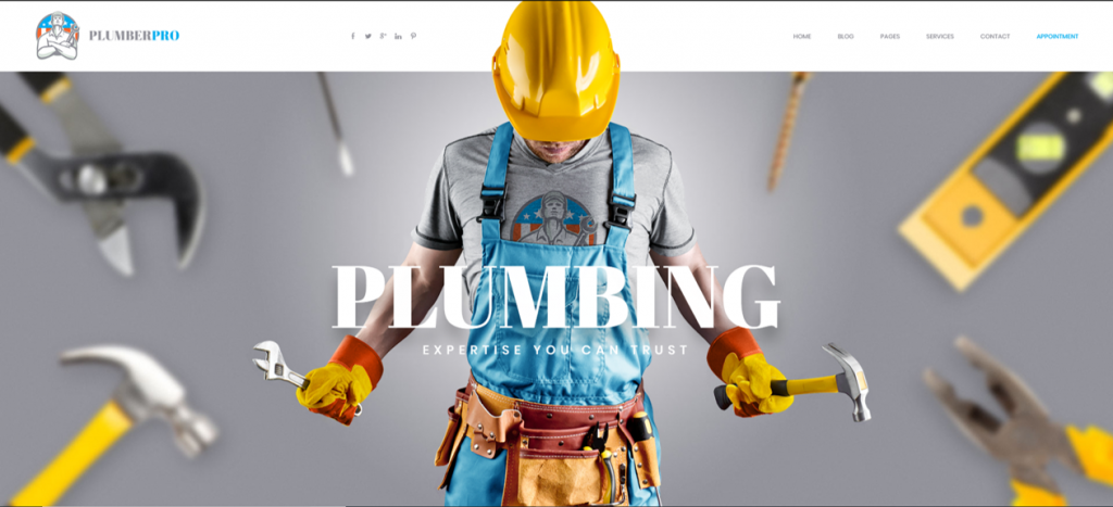 PlumberPlus - Handyman WordPress Themes