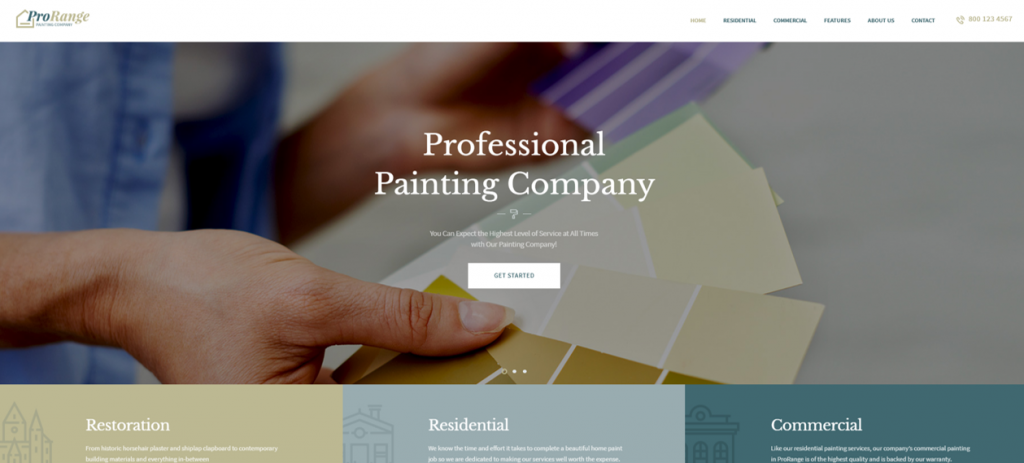 ProRange Painting Company WordPress Theme