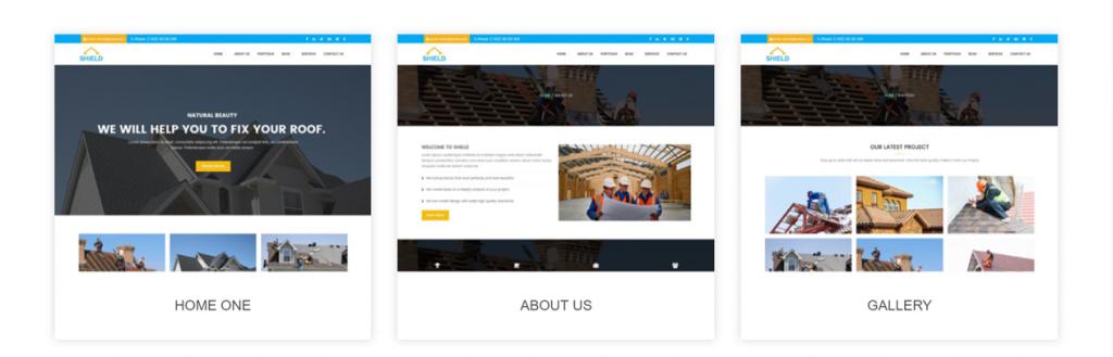 Shield - Roofing Service WordPress Theme